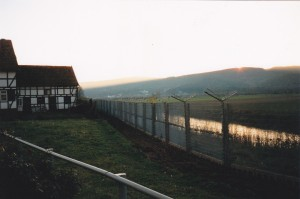 Grenzzaun bei Radlerrast Nov. 1989